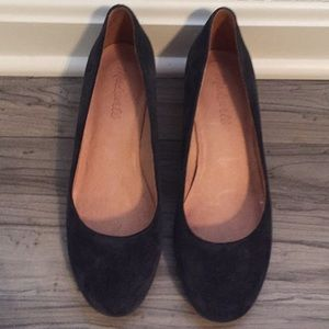 Madewell Ella Pumps size 7 Blue Suede